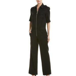 NWT Zadig & Voltaire Agrafes Black Wool Jumpsuit